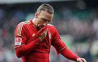 FUSSBALL   1. BUNDESLIGA   SAISON 2011/2012   32. SPIELTAG SV Werder Bremen - FC Bayern Muenchen               21.04.2012 Franck Ribery (FC Bayern Muenchen)