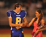 Allison Lyon (right), escorted by Oxford High's Franklin Tatum (8), was name Homecoming Queen during Homecoming of the Oxford vs. Hernando in Oxford, Miss. on Friday, October 14, 2011. Hernando won 31-30 in overtime.