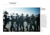 Tearsheet of &quot;Afghanistan: Kabul Police Academy&quot; published in Courrier Internacional