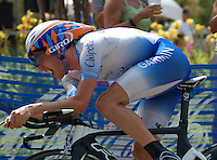 Dave Zabriskie at the 2008 US Pro Championship time trial.