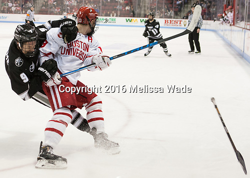 Brandon Duhaime (PC - 9), Nikolas Olsson (BU - 13) - The Boston University Terriers tied the visiting Providence College Friars 2-2 on Saturday, December 3, 2016, at Agganis Arena in Boston, Massachusetts.