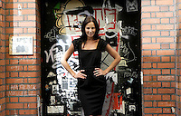 02/06/2009.Model Baibe wearing a Betsey Dress black EUR175 as part of Coats's Autumn Winter collection 2009 preview at Fallon & Byrne, Dublin..Photo: Gareth Chaney Collins