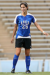 28 August 2009: Duke's Lynnea Pappas. The Duke University Blue Devils lost 1-0 to the University of North Carolina Greensboro Spartans at Fetzer Field in Chapel Hill, North Carolina in an NCAA Division I Women's college soccer game.