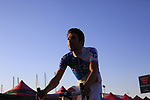 Thibaut Pinot (FRA) FDJ at the Team Presentation in Alghero, Sardinia for the 100th edition of the Giro d'Italia 2017, Sardinia, Italy. 4th May 2017.<br /> Picture: Eoin Clarke | Cyclefile<br /> <br /> <br /> All photos usage must carry mandatory copyright credit (&copy; Cyclefile | Eoin Clarke)