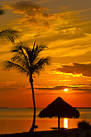 Sunset, Kona Kai Resort, Key Largo, Florida Keys, USA