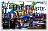 A view of the Guinness bar taps at the Storehouse in Dublin.