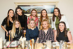 Aine Connell, Castleisland, pictured with friends and family as she celebrated her engagement on Saturday night last in Bella Bia restaurant, Tralee, front l-r: Nicole McEllistrim, Aine Connell, Orla Connell and Grainne Bergin. Back l-r: Cora Whooley, Anita Nolan, Deirdre Doody, Anna Bergin and Avril Sheehy.