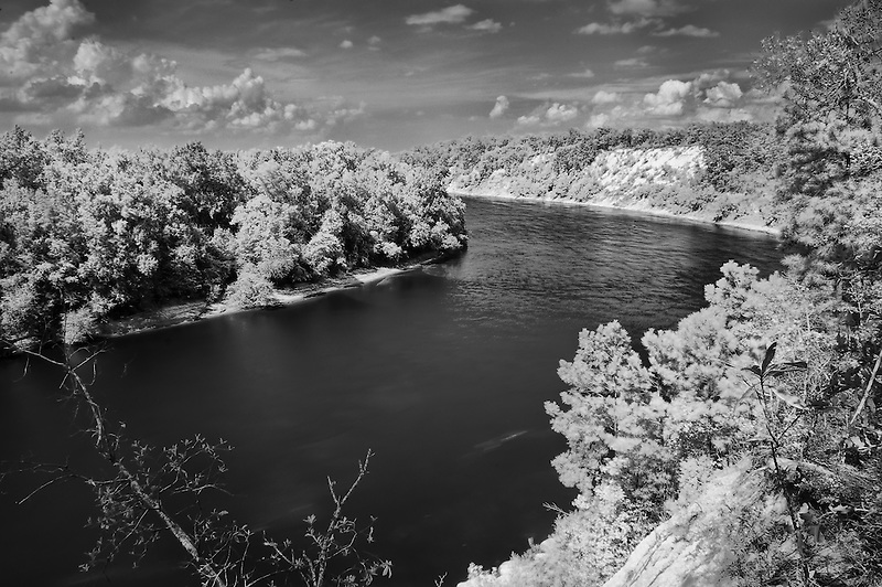 Infrared photograph of this majestic river on the florida panhandle