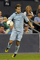 Sporting KC midfielder Graham Zusi in action..Sporting Kansas City defeated Philadelphia Union 2-1 at LIVESTRONG Sporting Park, Kansas City, KS.