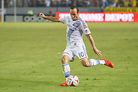 CARSON, CA - July 4, 2014: The LA Galaxy and Portland Timbers played to 2-2 draw during a Major League Soccer (MLS) game at StubHub Center stadium.