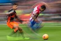 Atletico and Valencia CF at  Vicente Calderon