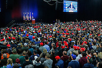 BETHPAGE, NY - APRIL 6 : Supporters of Republican presidential candidate Donald Trump wait his arrival at a rally on April 6, 2016 in Bethpage, New York. Front-running Republican candidate Trump will address supporters on the heels of a potentially damaging loss in the Wisconsin primary. Photo by VIEWpress