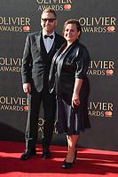Sir Kenneth Branagh &amp; Lindsay Brunnock at The Olivier Awards 2017 at the Royal Albert Hall, London, UK. <br /> 09 April  2017<br /> Picture: Steve Vas/Featureflash/SilverHub 0208 004 5359 sales@silverhubmedia.com