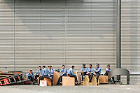 Security guards  in Shanghai, China, on May 14, 2008. Photo by Lucas Schifres/Pictobank