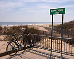 Southern end of the boardwalk at Rehoboth Beach, Delaware, USA.  &copy; Rick Collier