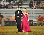 Freshman maid Madison Hill (right) with escort Mack Bishop at Lafayette High vs. Tunica Rosa Fort in Oxford, Miss. on Friday, October 5, 2012. Lafayette High won 35-6.