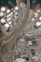 Aerial Photographs of the Pearl Harbor Memorial Bridge New Haven CT 2009 | Approach Views