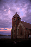 The Anglican church in Port Stanley, Falkland Islands. Half the 2,400 people in the island country live in the village.