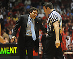 Memphis head coach Josh Pastner vs. Mississippi  in NIT second round basketball action at the C.M. &quot;Tad&quot; Smith Coliseum in Oxford, Miss. on Friday, March 19, 2010. Ole Miss won 90-81.