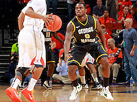 CHARLOTTESVILLE, VA- DECEMBER 6: Bryon Allen #0 of the George Mason Patriots handles the ball during the game on December 6, 2011against the Virginia Cavaliers at the John Paul Jones Arena in Charlottesville, Virginia. Virginia defeated George Mason 68-48. (Photo by Andrew Shurtleff/Getty Images) *** Local Caption *** Bryon Allen