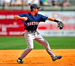 14 March 2009: Boston Red Sox' infielder Jed Lowrie in action during a Spring Training game against the Baltimore Orioles at Fort Lauderdale Stadium in Fort Lauderdale, Florida. The Orioles defeated the Red Sox 9-8 in the Grapefruit League matchup. Mandatory Photo Credit: Ed Wolfstein Photo