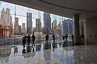 Looking at World Trade Center, Twin Tower Site,  site, World Financial Center, Winter Garden, New York City, New York,