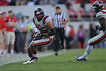 Ole Miss defensive back Cody Prewitt (25) recovers a fumble vs. Georgia at Sanford Stadium in Athens, Ga. on Saturday, November 3, 2012.