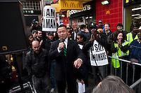 John Chun Liu Takes part during a rally in Harlem in New York , April 04, 2013. VIEWpress /Kena Betancur