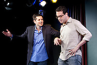 Comedians Dean Obeidallah (L) and Joe DeRossa perform in the 6th Annual NY Arab-American Comedy Festival in New York, USA, 10 May 2009.