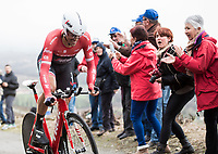 Picture by Alex Broadway/SWpix.com - 08/03/17 - Cycling - 2017 Paris Nice - Stage Four - Beaujeu to Mont Brouilly -Alberto Contador of Trek-Segafredo competes in the Time Trial.