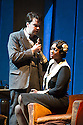 London, UK. 27.10.2014. Jonathan Miller's production, for English National Opera, of LA BOHEME, by Giacomo Puccini, opens at the London Coliseum. Rising star soprano, Angel Blue, makes her role debut as Mimi. Picture shows: David Butt Philip (Rodolfo) and Angel Blue (Mimi). Photograph © Jane Hobson.