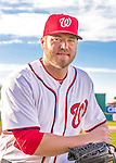 28 February 2016: Washington Nationals pitcher Shawn Kelley poses for his Spring Training Photo-Day portrait at Space Coast Stadium in Viera, Florida. Mandatory Credit: Ed Wolfstein Photo *** RAW (NEF) Image File Available ***