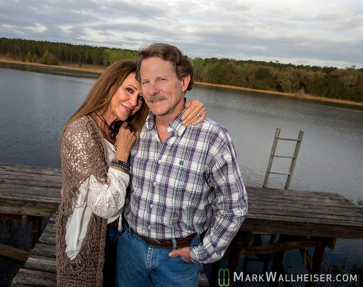 Author and singer songwriter Rita Coolidge and author Joe Hutto near Waukeenah, Florida outside Tallahassee.