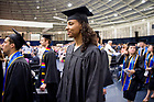 May 21, 2017; Former women's basketball player Diamond Thompson walks in to the Joyce Center for the Mendoza College of Business undergraduate Commencement ceremony, 2017. (Photo by Matt Cashore/University of Notre Dame)
