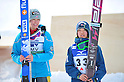 (L to R) Hendrickson Sarah (USA), Sara Takanashi (JPN), .MARCH 3, 2012 - Ski Jumping : FIS Ski Jumping World Cup Ladies in Zao, Individual the 12th Competiiton HS100 at Jumping Hills Zao,Yamagata ,Japan. (Photo by Jun Tsukida/AFLO SPORT) [0003].