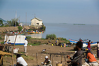 A fishing port on Lake Victoria in Homa Bay, Kenya.