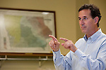Republican presidential hopeful Rick Santorum campaigns on Thursday, July 28, 2011 in Mt. Pleasant, IA.