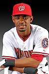 25 February 2007: Washington Nationals outfielder Nook Logan poses for his Photo Day portrait at Space Coast Stadium in Viera, Florida.<br /> <br /> Mandatory Photo Credit: Ed Wolfstein Photo<br /> <br /> Note: This image is available in a RAW (NEF) File Format - contact Photographer.