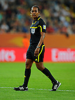 Referee Finau Vulivuli (Fiji) during the FIFA Women's World Cup at the FIFA Stadium in Dresden, Germany on July 5th, 2011.