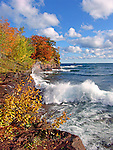 Presque Isle Autumn, Lake Superior Marquette MI. Nov 2007 Cover, Lake Superior Magazine