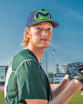 4 September 2016: Vermont Lake Monsters pitcher A.J. Puk warms up prior to a game the against the Lowell Spinners at Centennial Field in Burlington, Vermont. The Lake Monsters fell to the Spinners 8-3 in NY Penn League action. Mandatory Credit: Ed Wolfstein Photo *** RAW (NEF) Image File Available ***