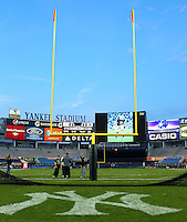 Looking from home plate of Yankee Stadium prior to the Notre Dame vs. Army football game on saturday, November 20, 2010. photo by Errol Anderson