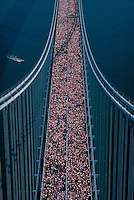 New York Marathon,Verrazano-Narrows Bridge, connecting Brooklyn and Staten Island