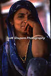 Woman selling fruit in Jaipur, India market