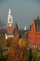 View of University Place, Fall UVM Campus