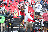 College Park, MD - October 1, 2016: Maryland Terrapins defensive back Alvin Hill (27) breaks up a pass to Purdue Boilermakers wide receiver Domonique Young (5) during game between Purdue and Maryland at  Capital One Field at Maryland Stadium in College Park, MD.  (Photo by Elliott Brown/Media Images International)