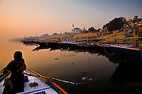 The early morning light illuminates the calm waters of the Ganges. (Photo by Matt Considine - Images of Asia Collection)