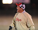 Lafayette High coach Anthony Hart vs. Greenwood High in MHSAA playoff action in Oxford, Miss. on Friday, November 11, 2011. Lafayette High won 53-8.