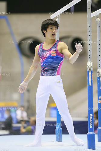 Kenzo Shirai, <br /> MAY 17, 2015 - Artistic Gymnastics : <br /> The 54th NHK Cup <br /> Men's Individual All-Around <br /> Parallel bars <br /> at Yoyogi 1st Gymnasium, Tokyo, Japan. <br /> (Photo by YUTAKA/AFLO SPORT)