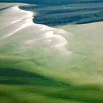Sandbar on Chesapeake Bay Delaware coast helicopter aerial